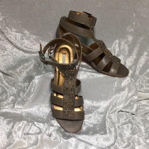 Cynthia Vincent Ankle Strap Leather Shoes Sz 8